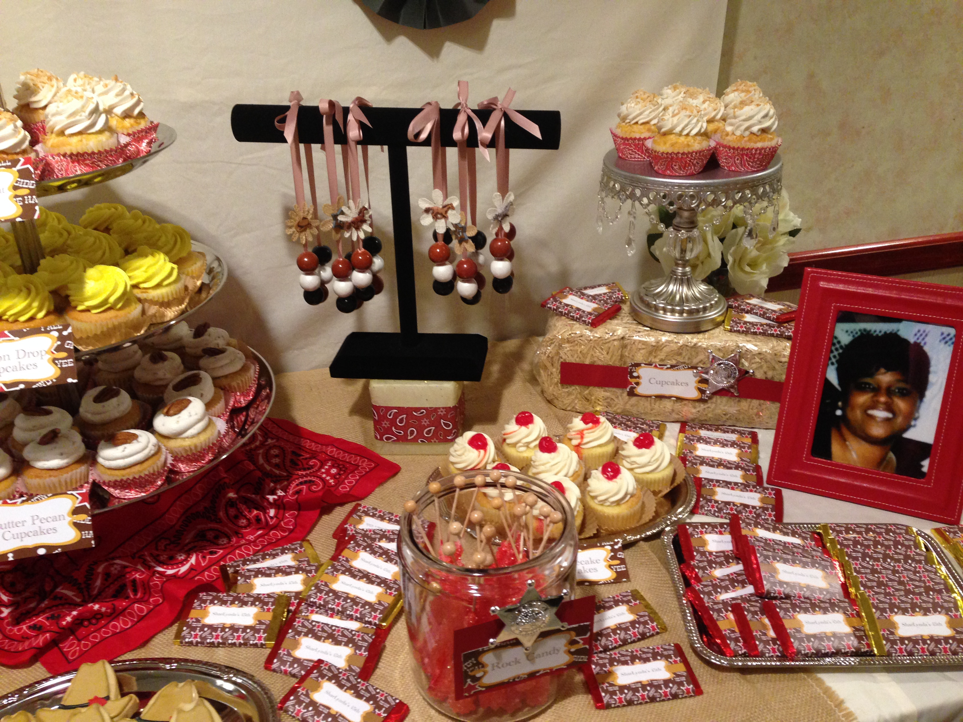 Red and Black Candy Table