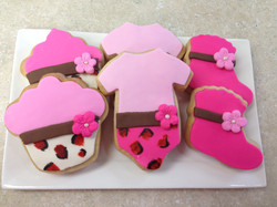 Leopard and Hot Pink Baby Cookies