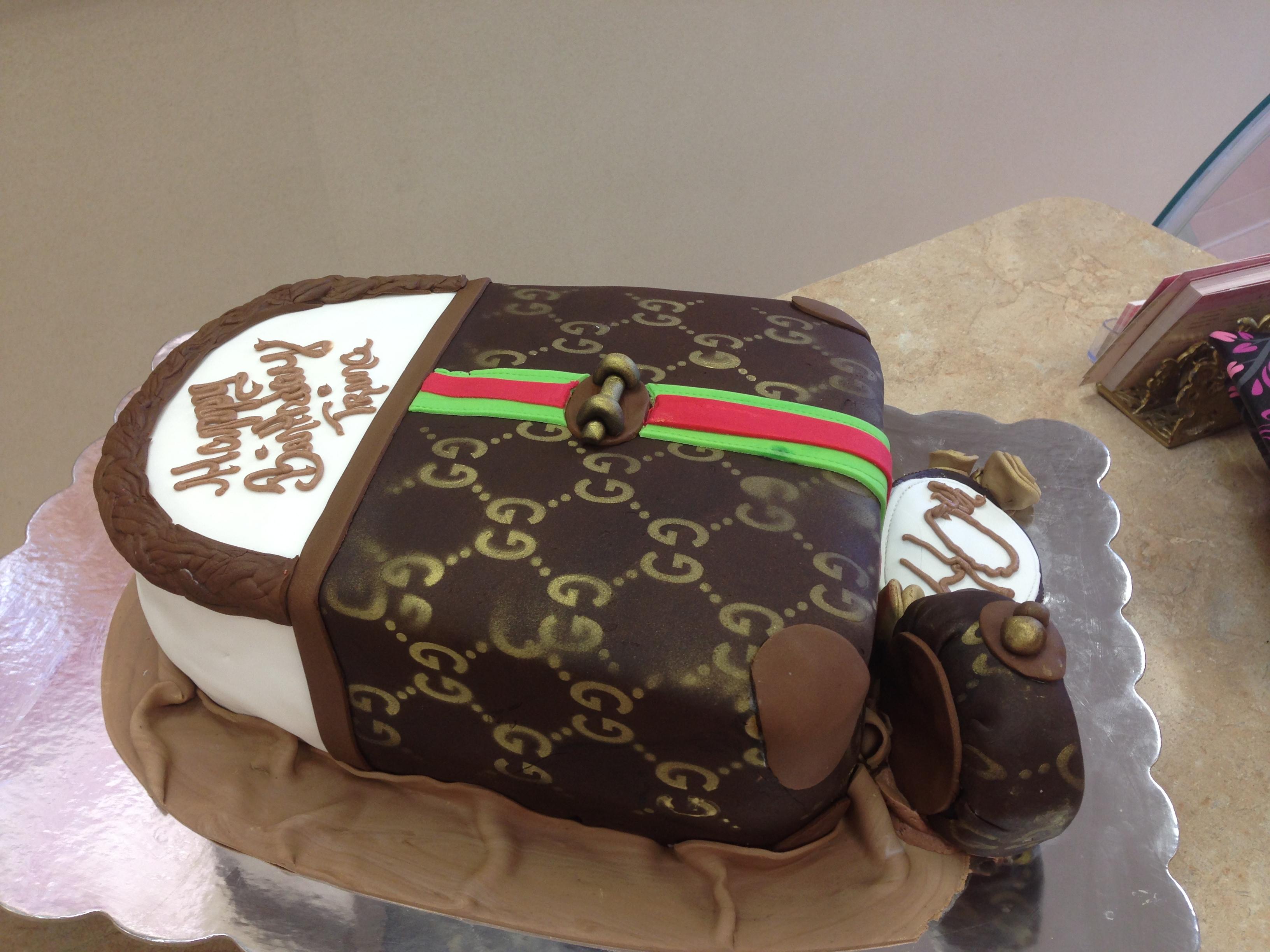Gucci Handbag Cake