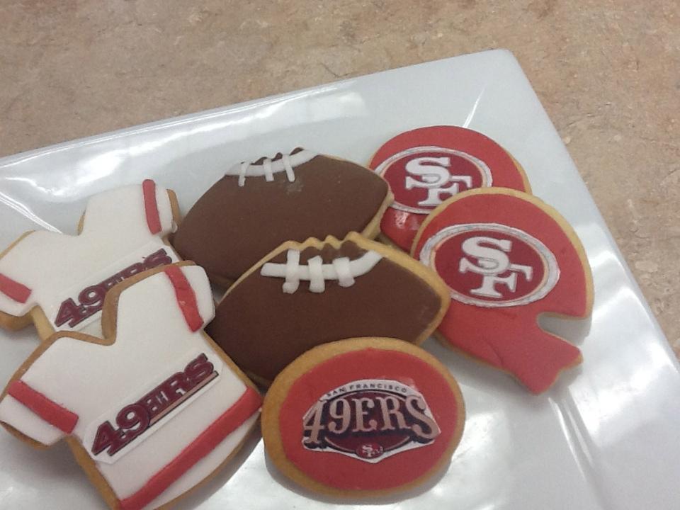 49er Football Cookies