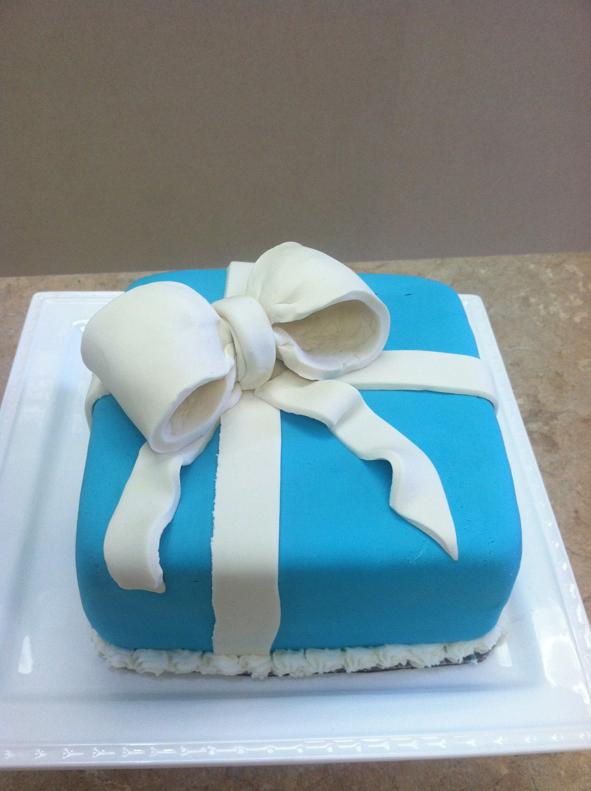 Tiffany Box Fondant Cake