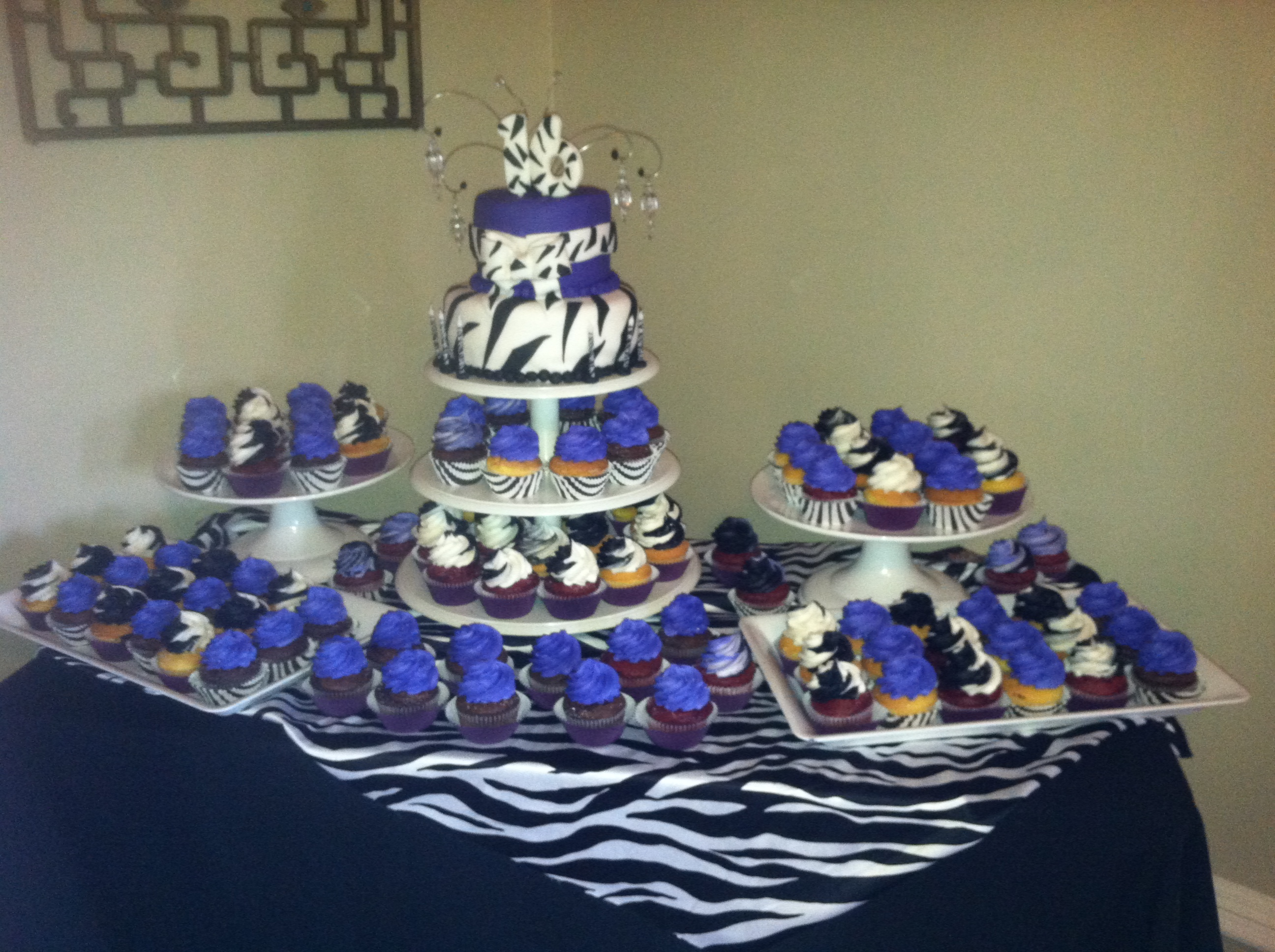 Zebra Dessert Buffet Table