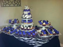 Zebra Dessert Buffet Table