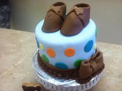 Baby Boy Booties Cake