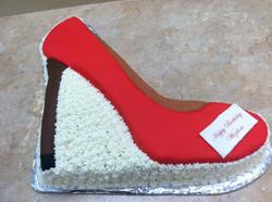 Diva Red Shoe Cake