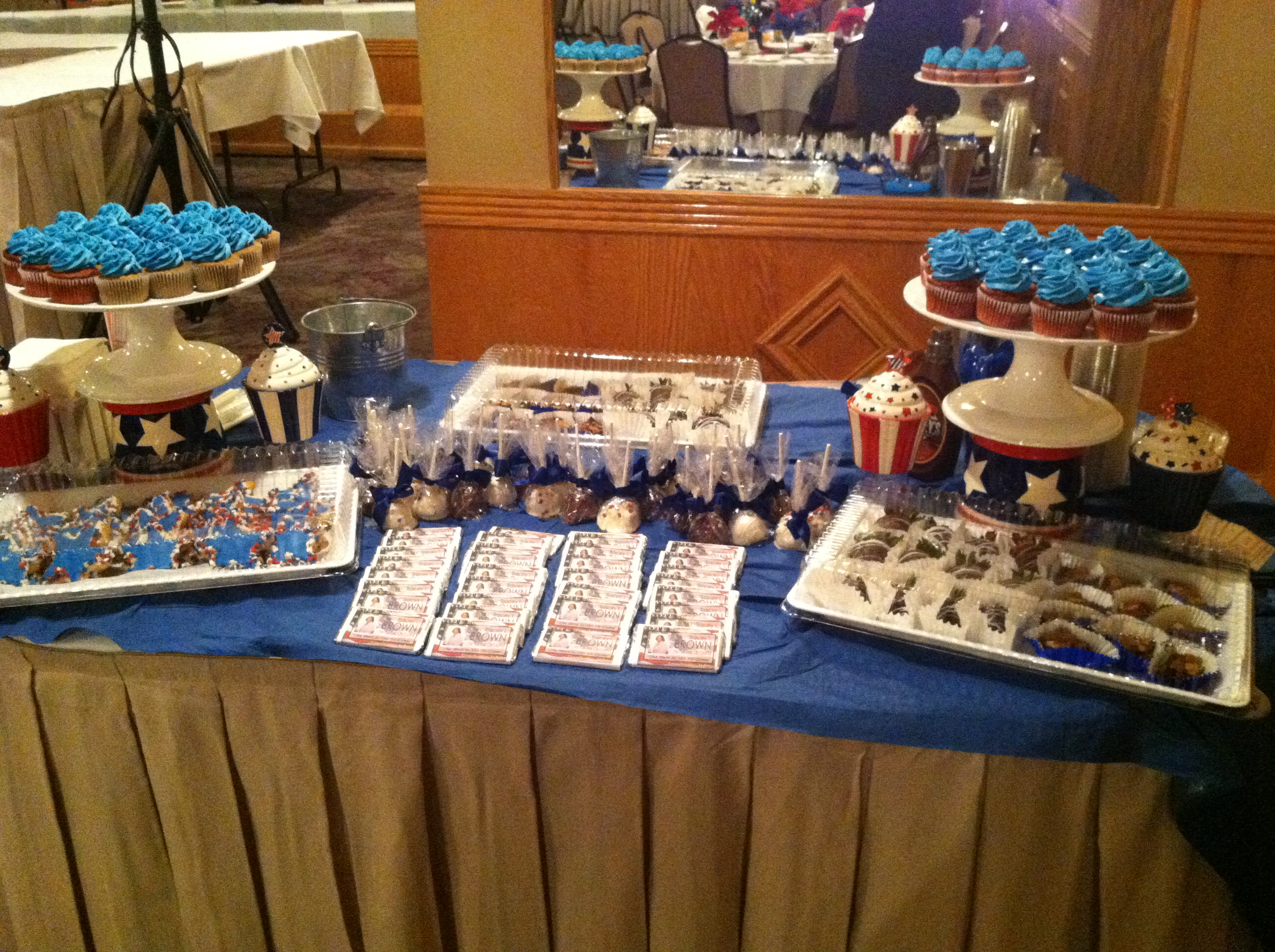 Red White and Blue Dessert Table