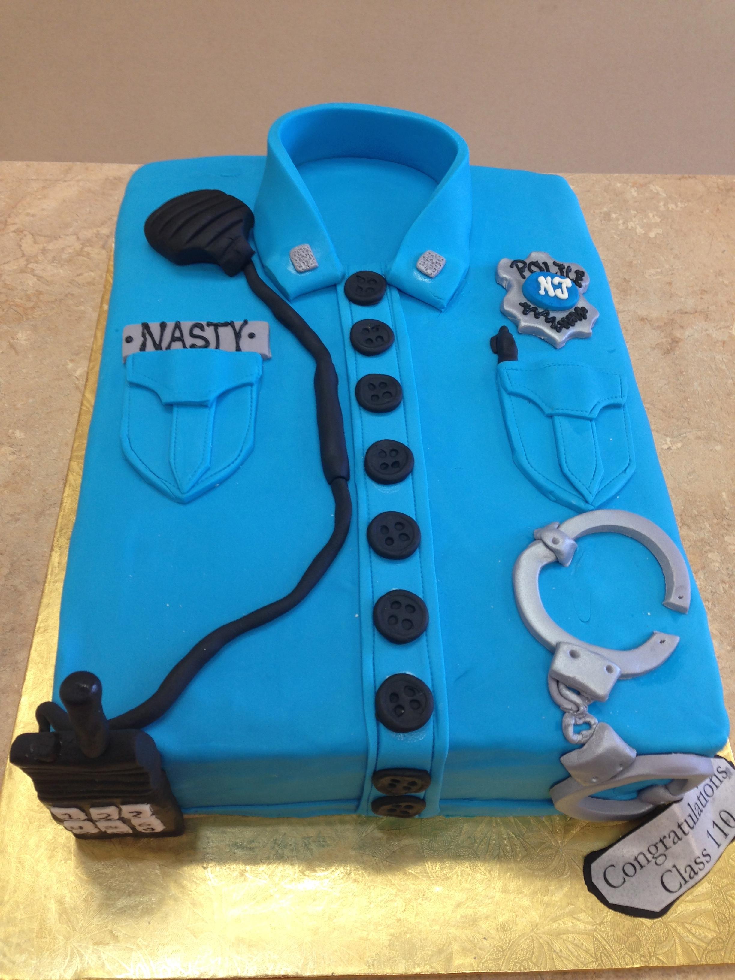 Police Theme Cake