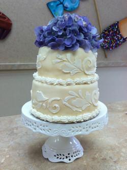 All White Fondant Cake