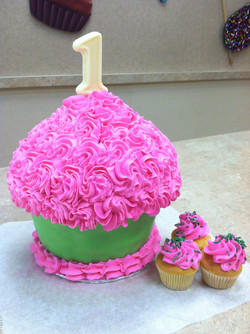 Pink And Green King Size Cupcake