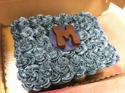 M Cupcake Cake