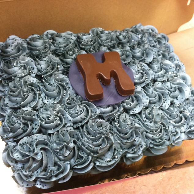 Silver Cupcake Wedding Cake