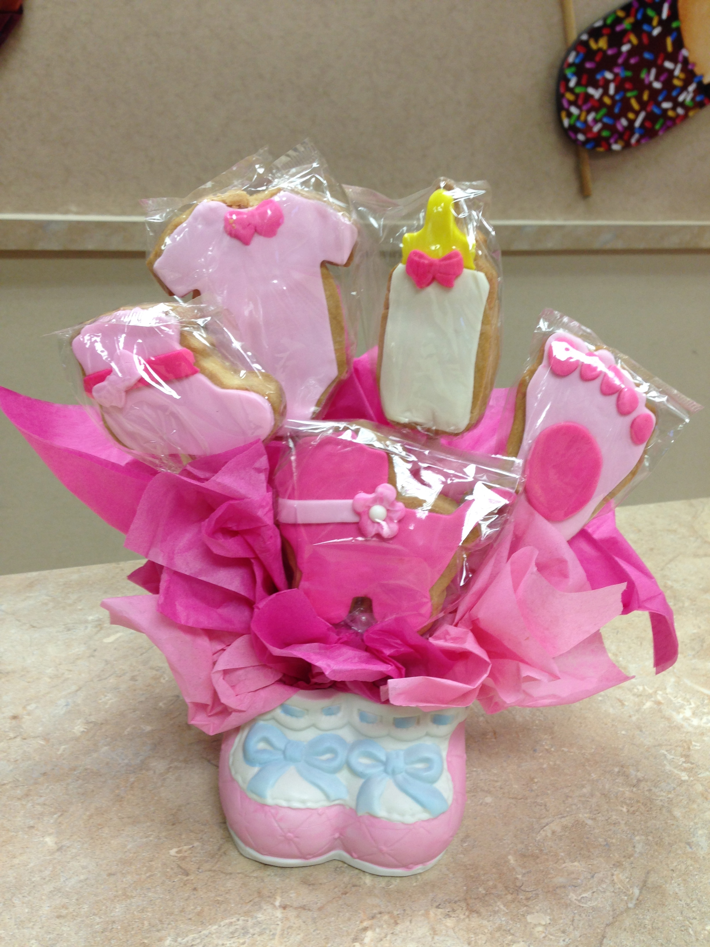 Baby Girl Cookie Bouquet