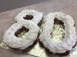 Number 80 Cupcake Cake