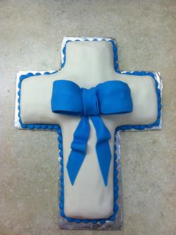 Cross Blessing Christening Cake