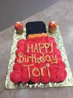 Nail Polish Bottle Cupcake Cake