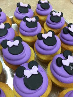 Lavender Minnie Mouse Cupcakes