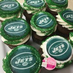 NY Jets Cupcakes