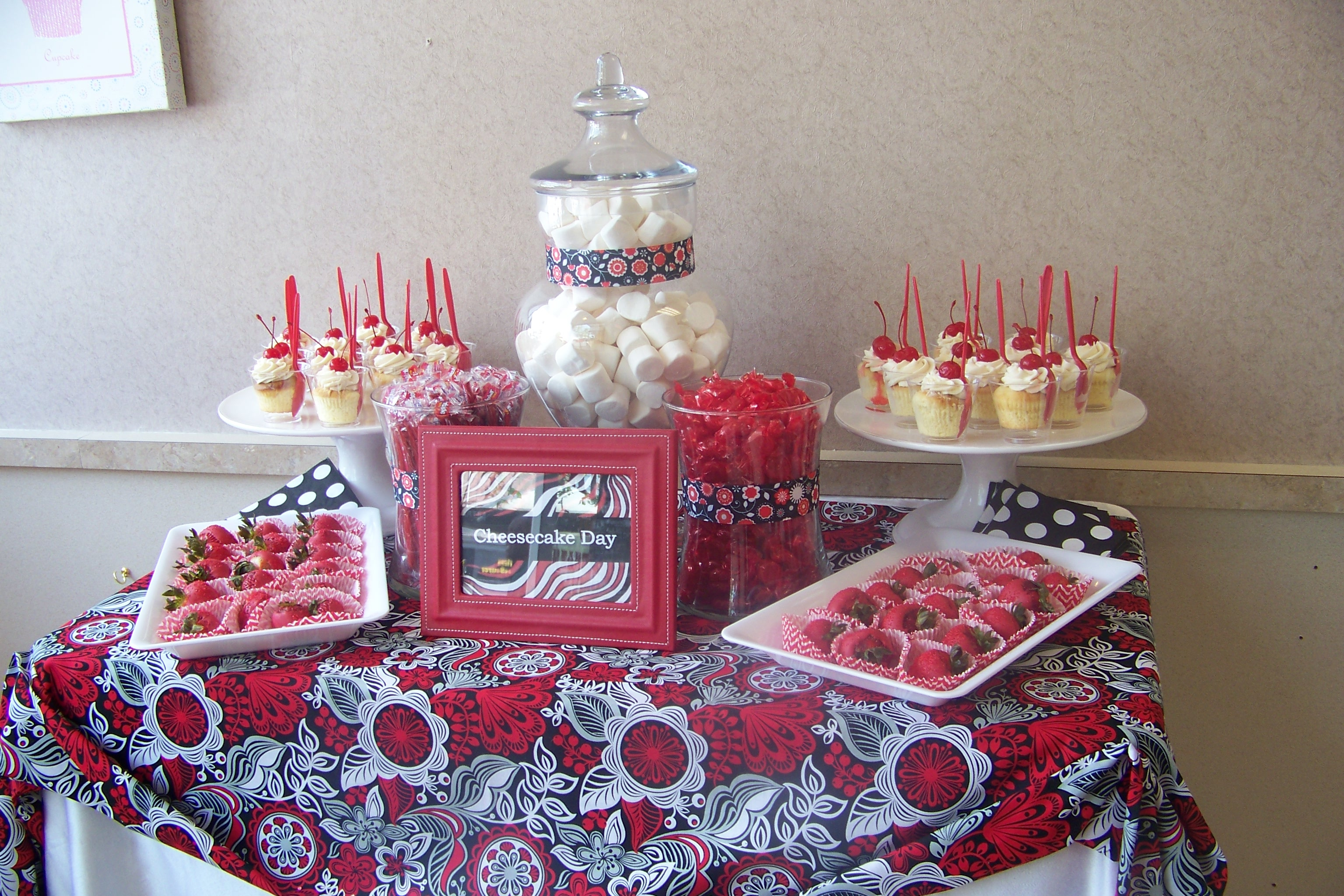 Red and White Candy Table