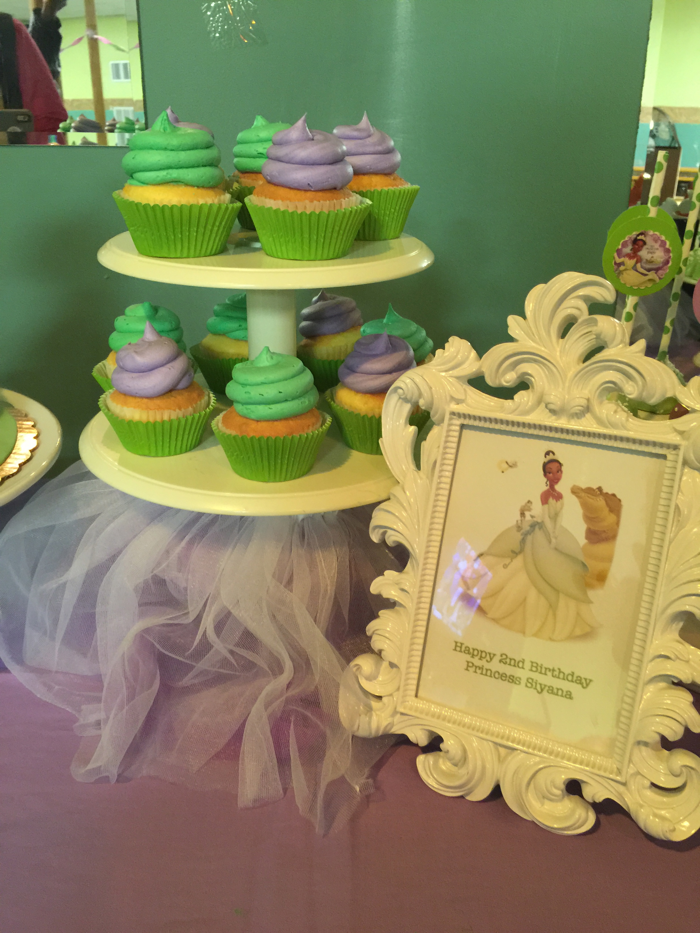 Green And Purple Dessert Table
