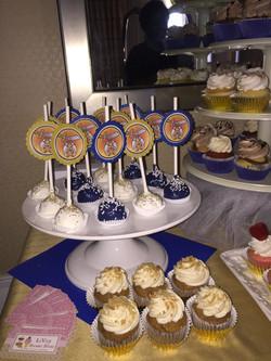 Blue And White Cake Pops