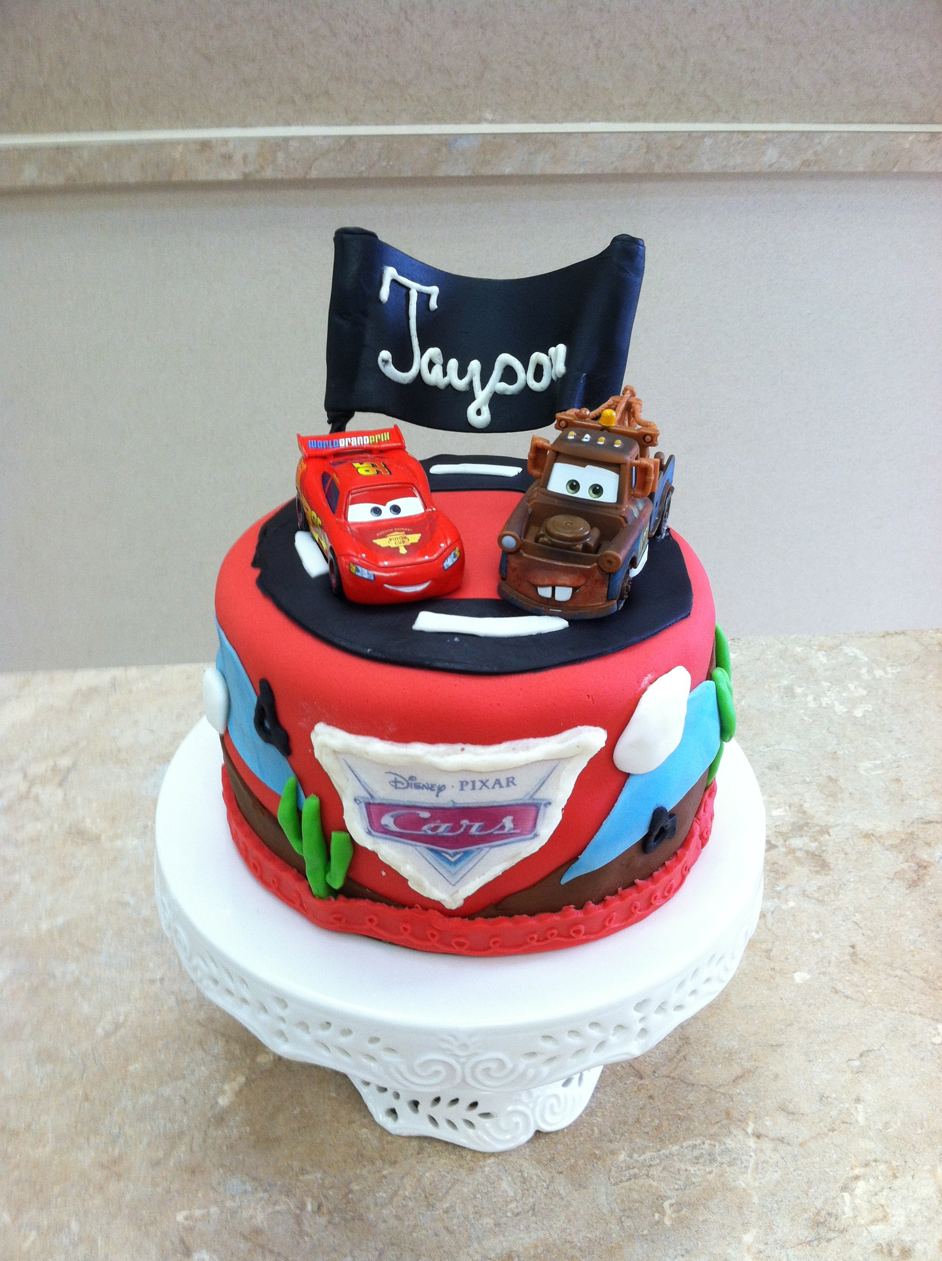 Cars Movie Theme Cake