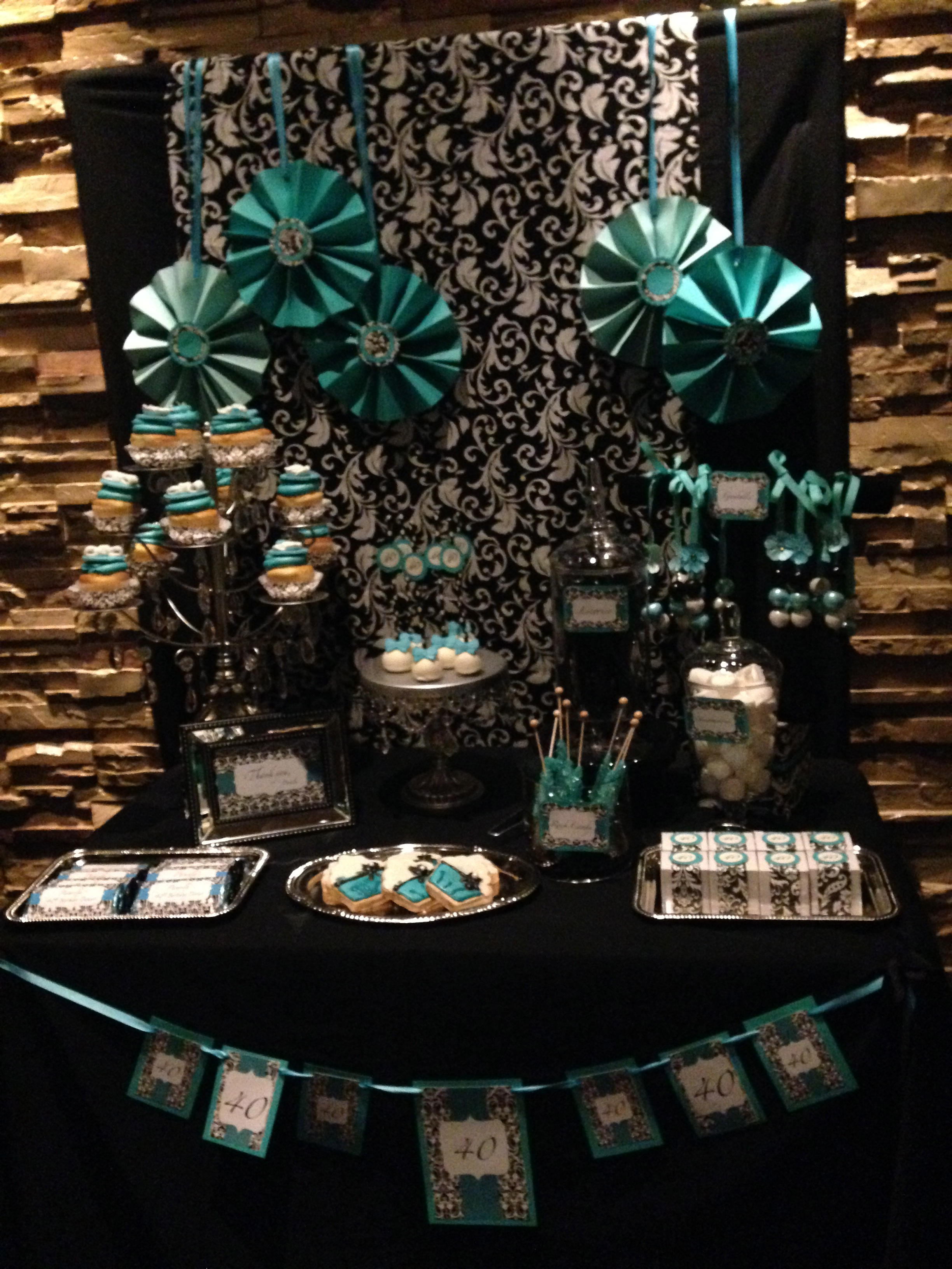 Turquoise Blue Candy Table
