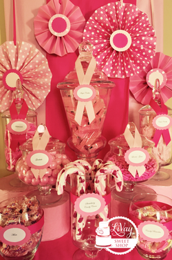 Pink and White Candy Table
