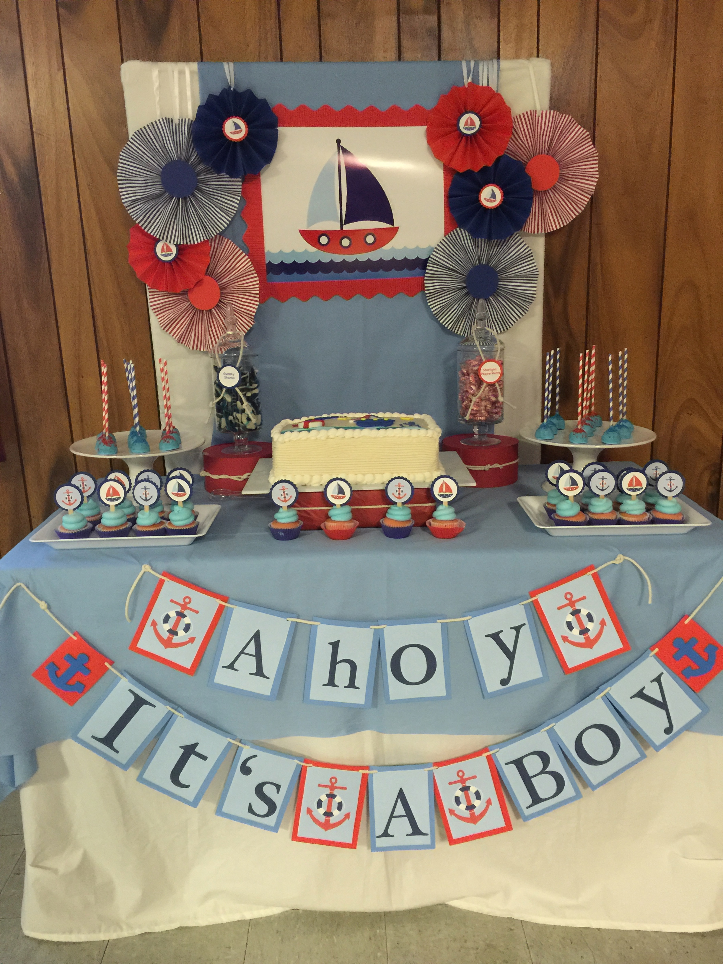 Babys Boy Shower Table