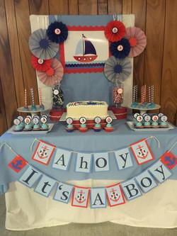 Babys Boy Shower Table