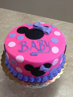 Hot Pink Minnie Mouse Baby Cake