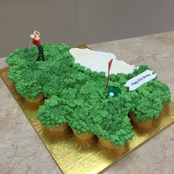 Golf Cupcake Cake