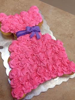 Pink Party Dress Cupcake Cake
