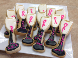 Breast Cancer Theme Cookies