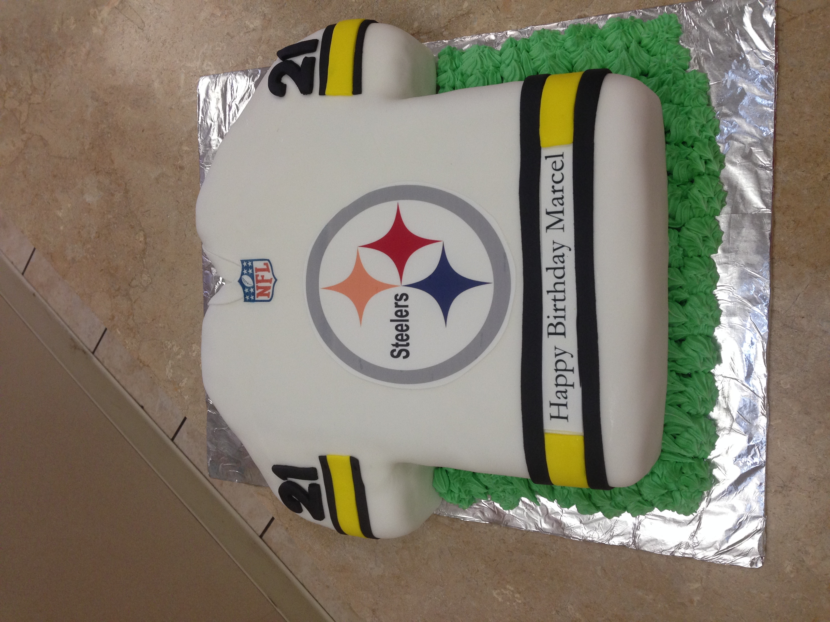 Steeler Football Cake