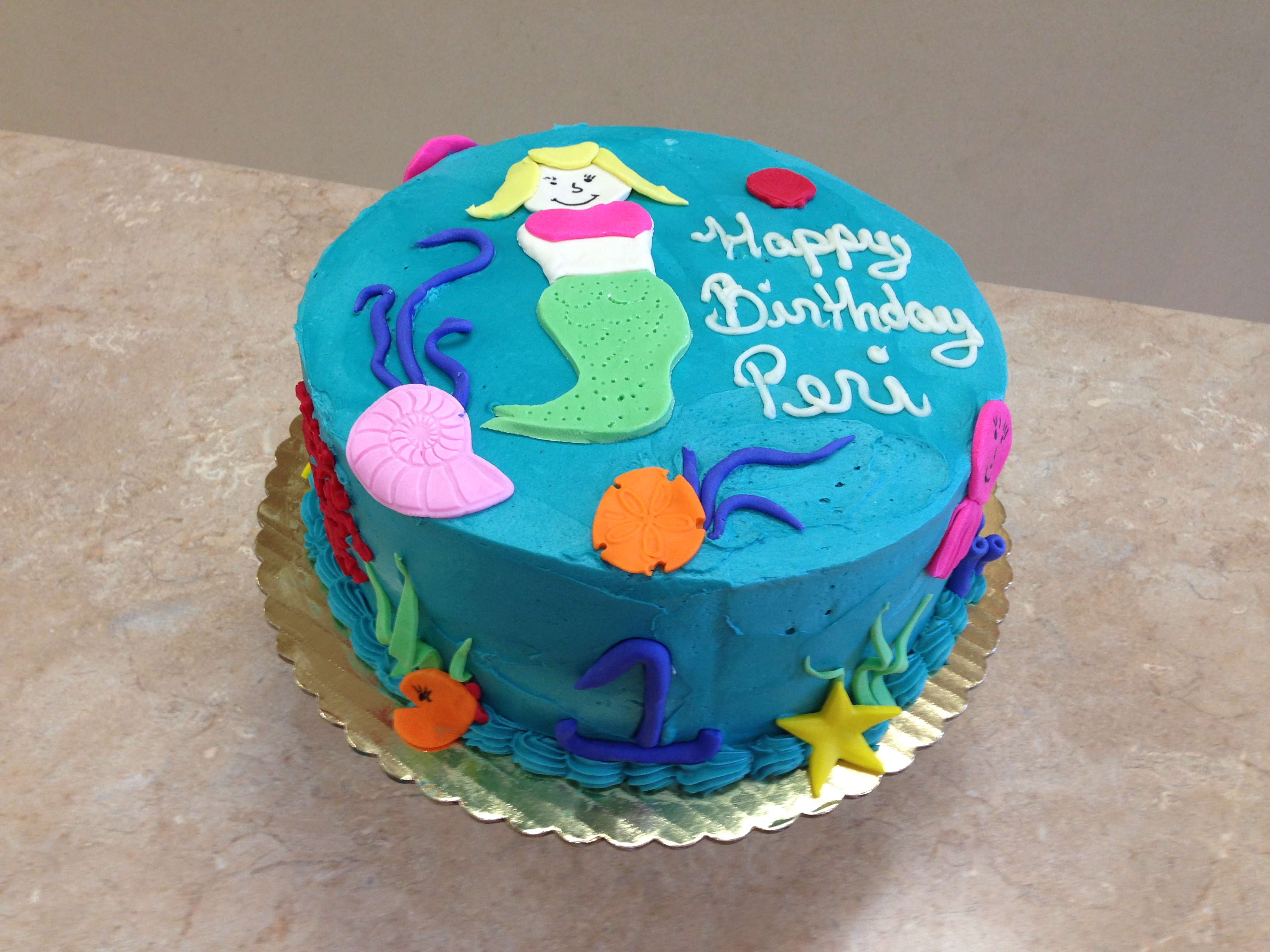 Mermaid Buttercream Cake