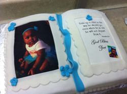 Open Bible Photo Cake