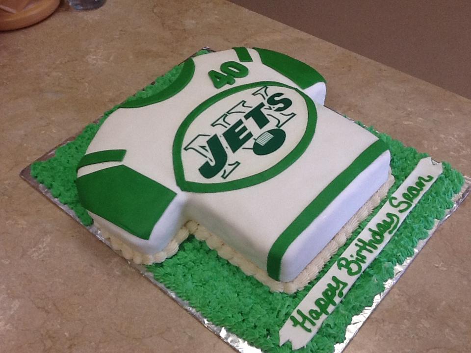 Jets Football Jersey Cake