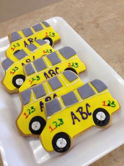 School Bus Cookies