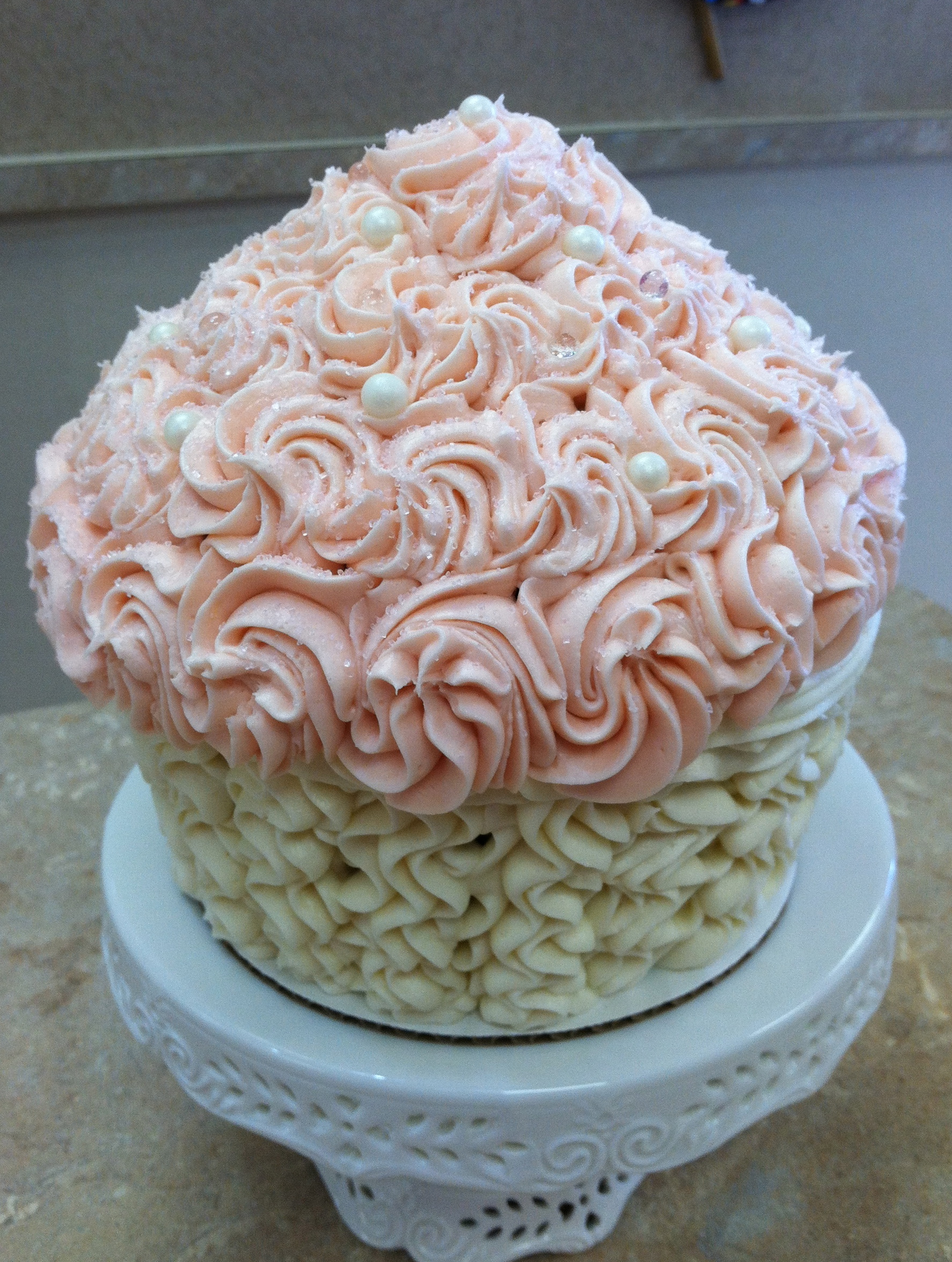 Pink And White King Size Cupcake