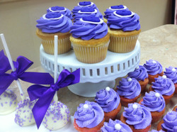 Blue Cupcakes With Pearls