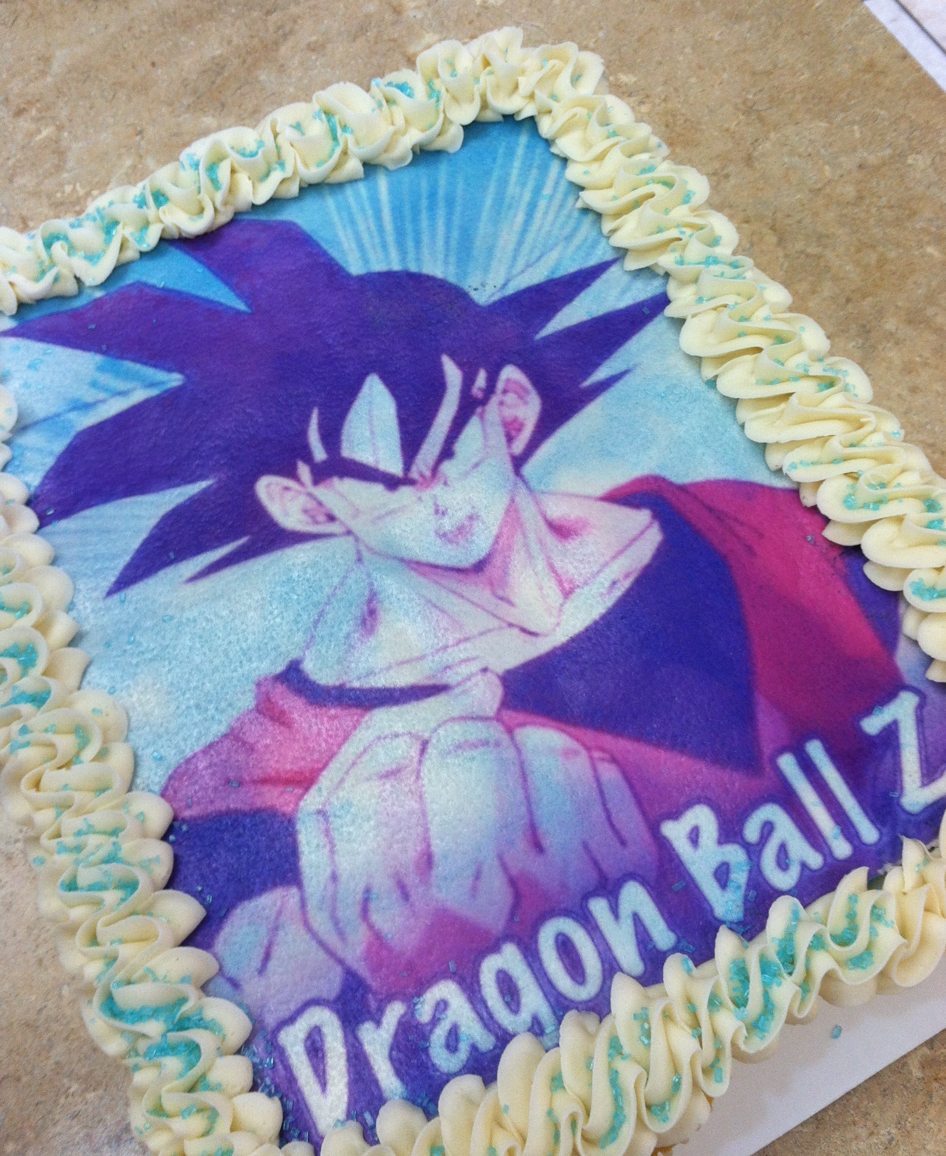 Dragon Ball Z Cupcake Cake