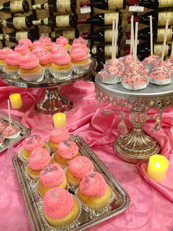 Pink and Silver Candy Table