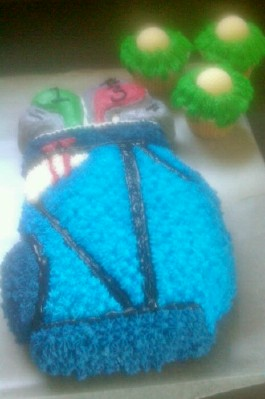 Golf Bag Buteercream Cake
