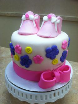 Babygirl Shoe Cake