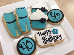 40th Birthday Cookies