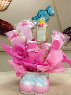 Pink Booties Cookie Bouquets