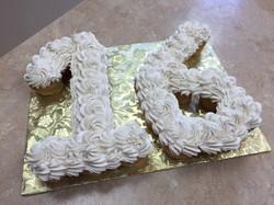 Number 16 Cupcake Cake