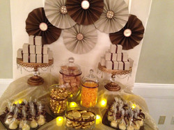 Gold Candy Table