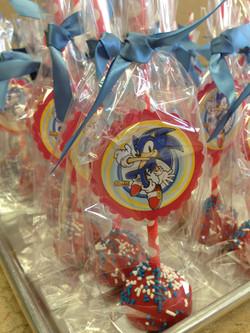 Sonic The Hedgehog cake Pops