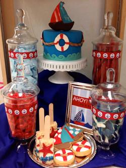 Sailors Theme Candy Table